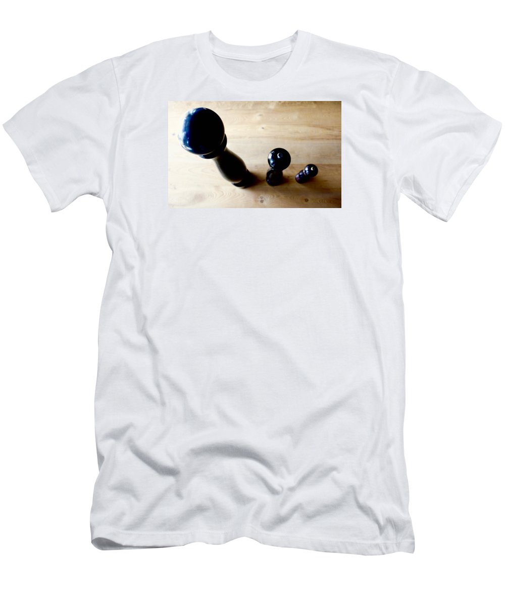 Pepper Mill Men's T-Shirt (Athletic Fit) featuring the photograph Pepper Mill Topside by Albasir Canizares