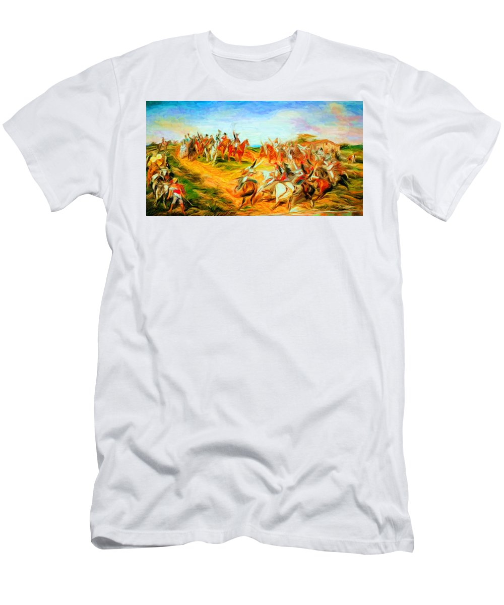 Proclamation Of Brazilian Independence Men's T-Shirt (Athletic Fit) featuring the digital art Peter's Delirium by Caito Junqueira