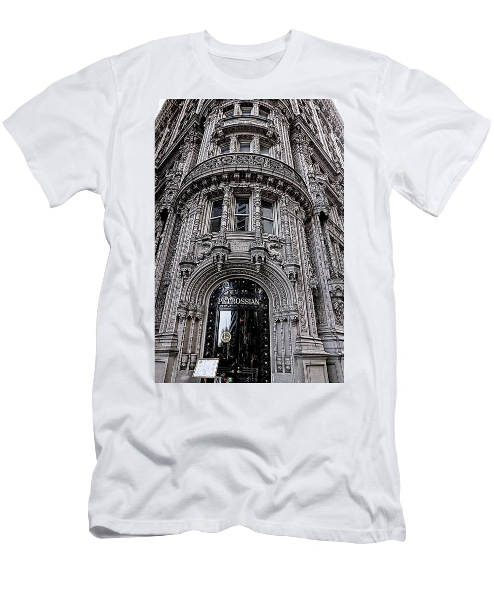 Landmark Men's T-Shirt (Athletic Fit) featuring the photograph Petrossian by Nick Difi