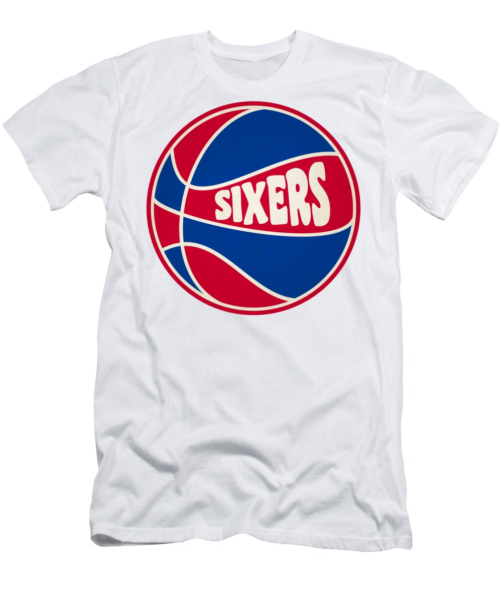 new arrival 365f1 6c9ad Philadelphia 76ers Retro Shirt Men's T-Shirt (Athletic Fit)