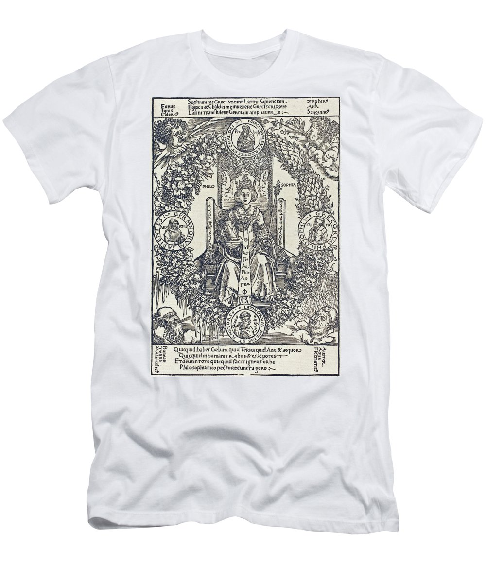 Durer Men's T-Shirt (Athletic Fit) featuring the drawing Philosophy by Albrecht Durer