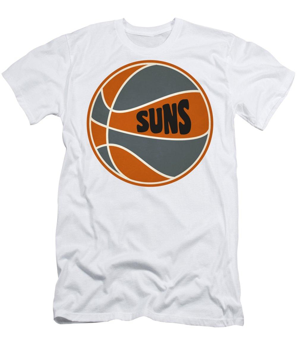 Suns Men's T-Shirt (Athletic Fit) featuring the photograph Phoenix Suns Retro Shirt by Joe Hamilton