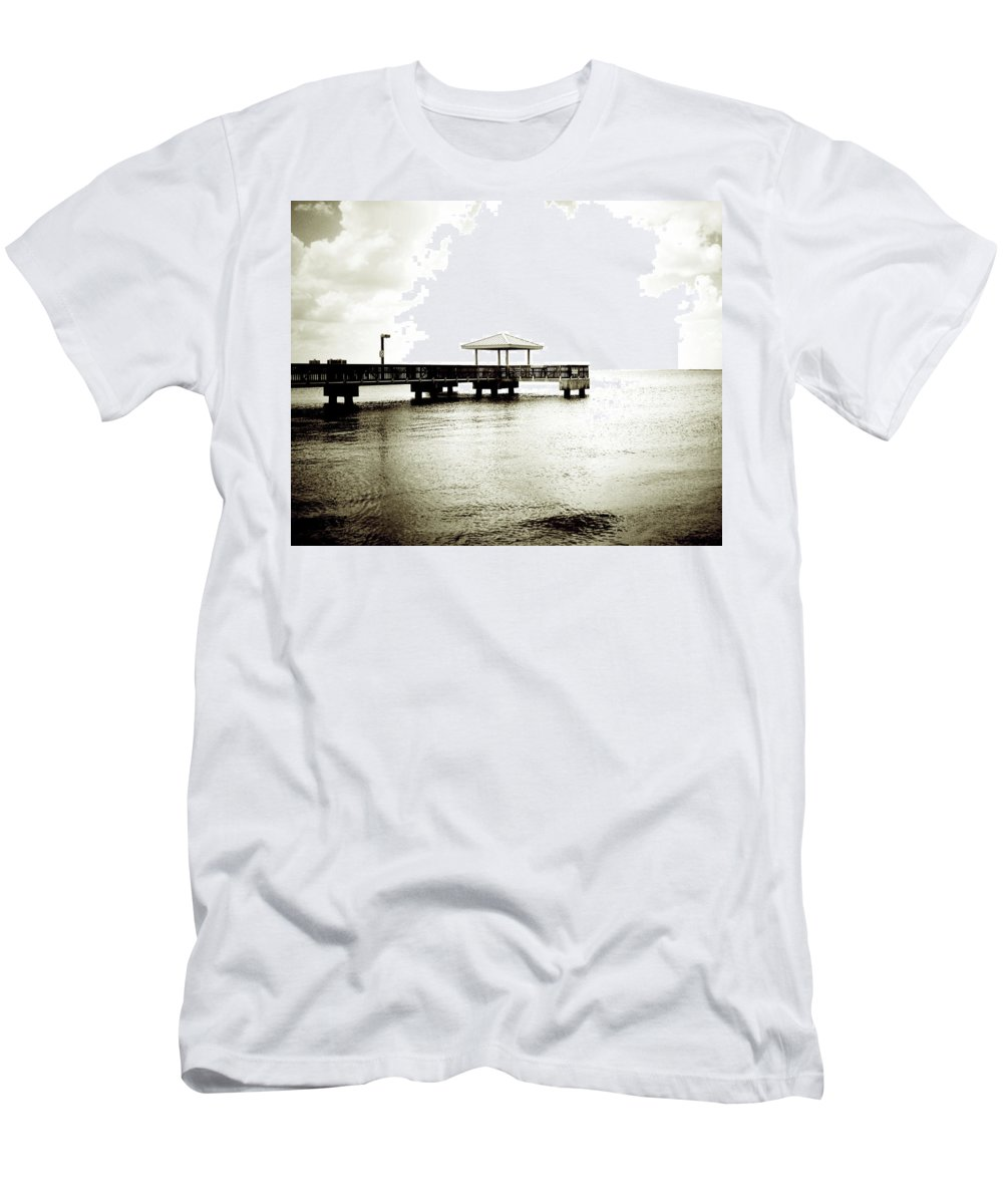 Florida Men's T-Shirt (Athletic Fit) featuring the photograph Pier Extreme by Chris Andruskiewicz