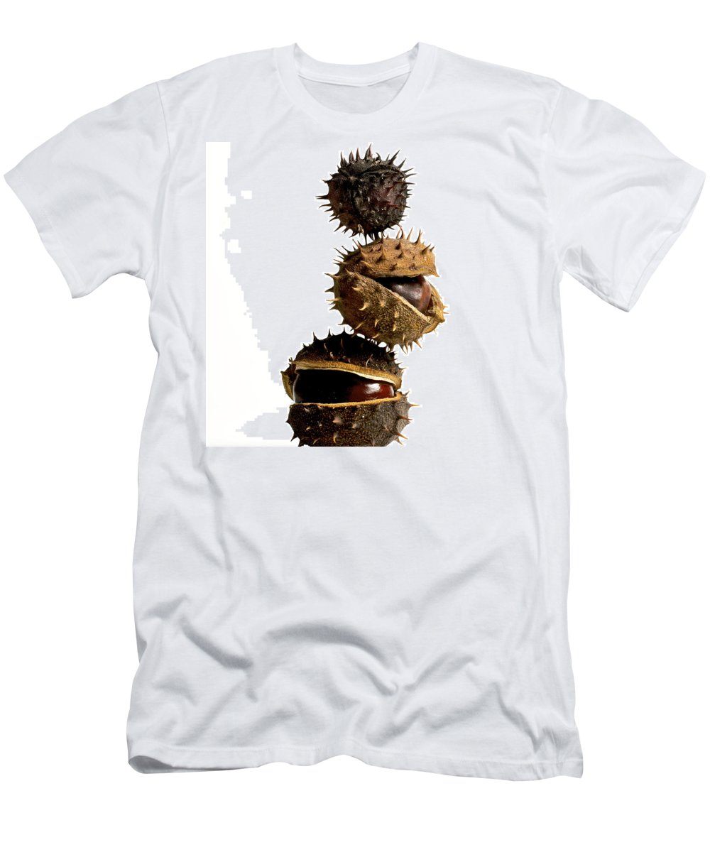 Bogue Men's T-Shirt (Athletic Fit) featuring the photograph Pile Of Chestnuts by Bernard Jaubert