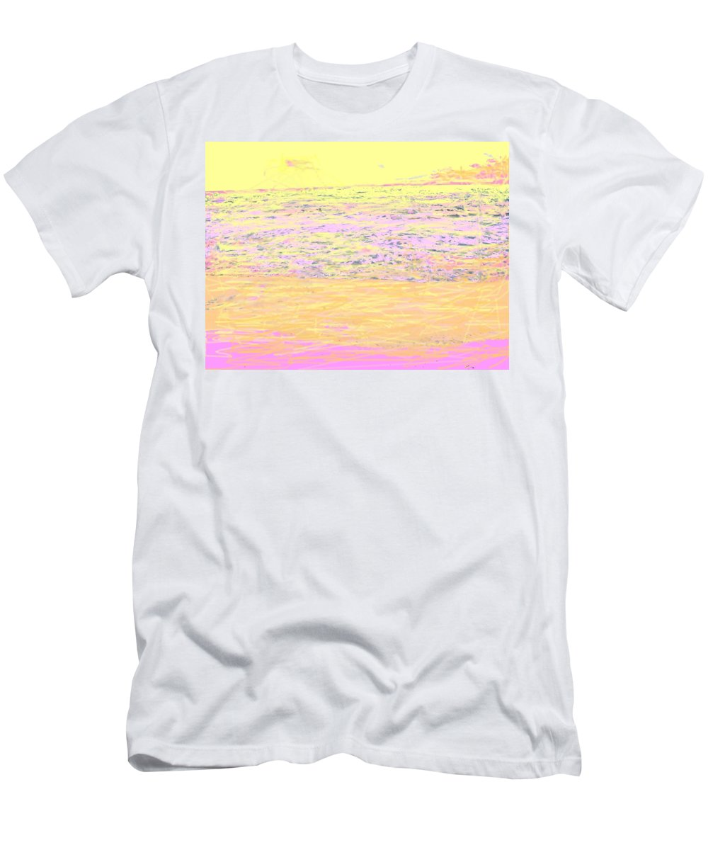 Seascape Men's T-Shirt (Athletic Fit) featuring the photograph Pineapple Sunset by Ian MacDonald