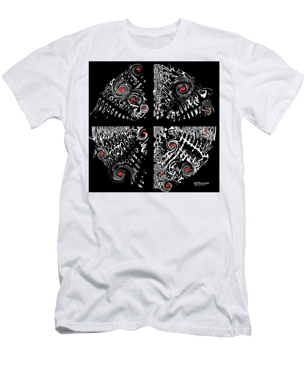 Ping Men's T-Shirt (Athletic Fit) featuring the digital art Pings by Diane Parnell