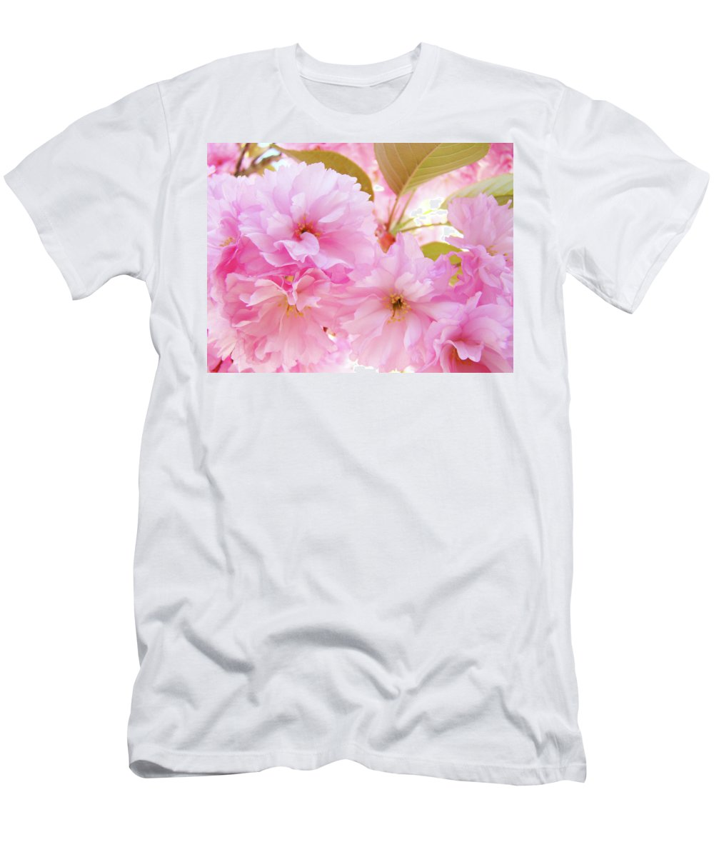 Blossom Men's T-Shirt (Athletic Fit) featuring the photograph Pink Blossoms Art Prints Canvas Spring Tree Blossoms Baslee Troutman by Baslee Troutman