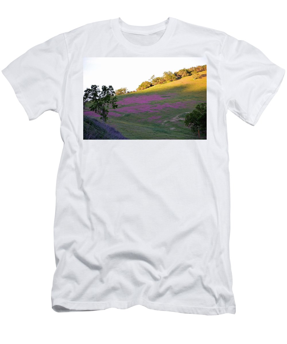 Hills Men's T-Shirt (Athletic Fit) featuring the photograph Pink Hills by Michael Brown