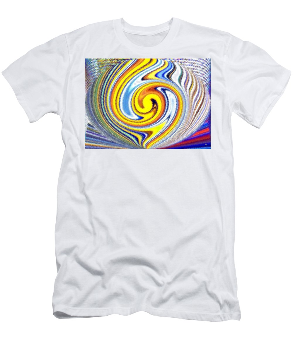 Abstract Men's T-Shirt (Athletic Fit) featuring the digital art Pizzazz 25 by Will Borden