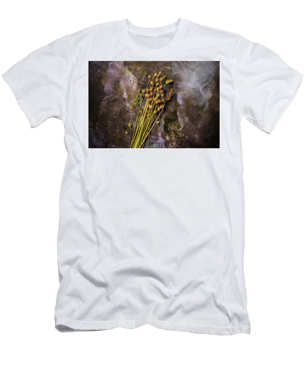 Plant Men's T-Shirt (Athletic Fit) featuring the photograph Plants And Seeds by Ludmila SHUMILOVA