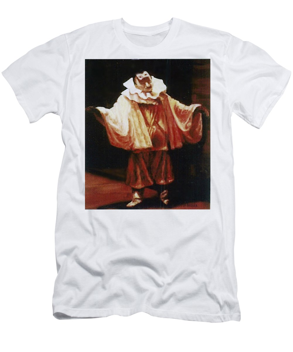 Figure Men's T-Shirt (Athletic Fit) featuring the painting Playing The Clown by Fran Rittenhouse-McLean