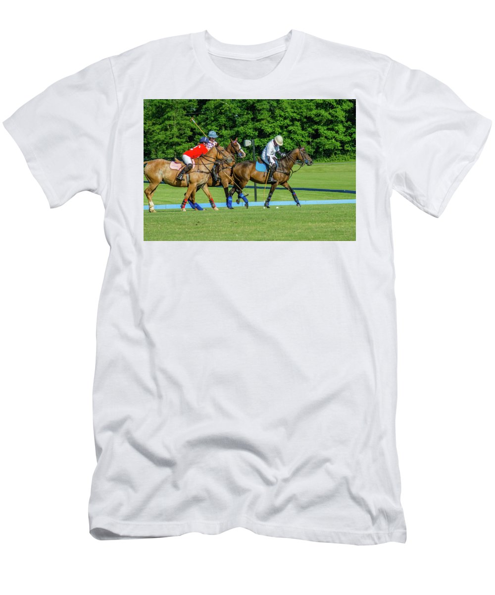 Banbury Cross Men's T-Shirt (Athletic Fit) featuring the photograph Polo Group 1 by Sarah M Taylor