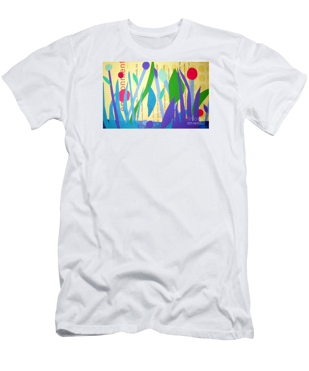 Landscape T-Shirt featuring the mixed media Pond Life by Debra Bretton Robinson