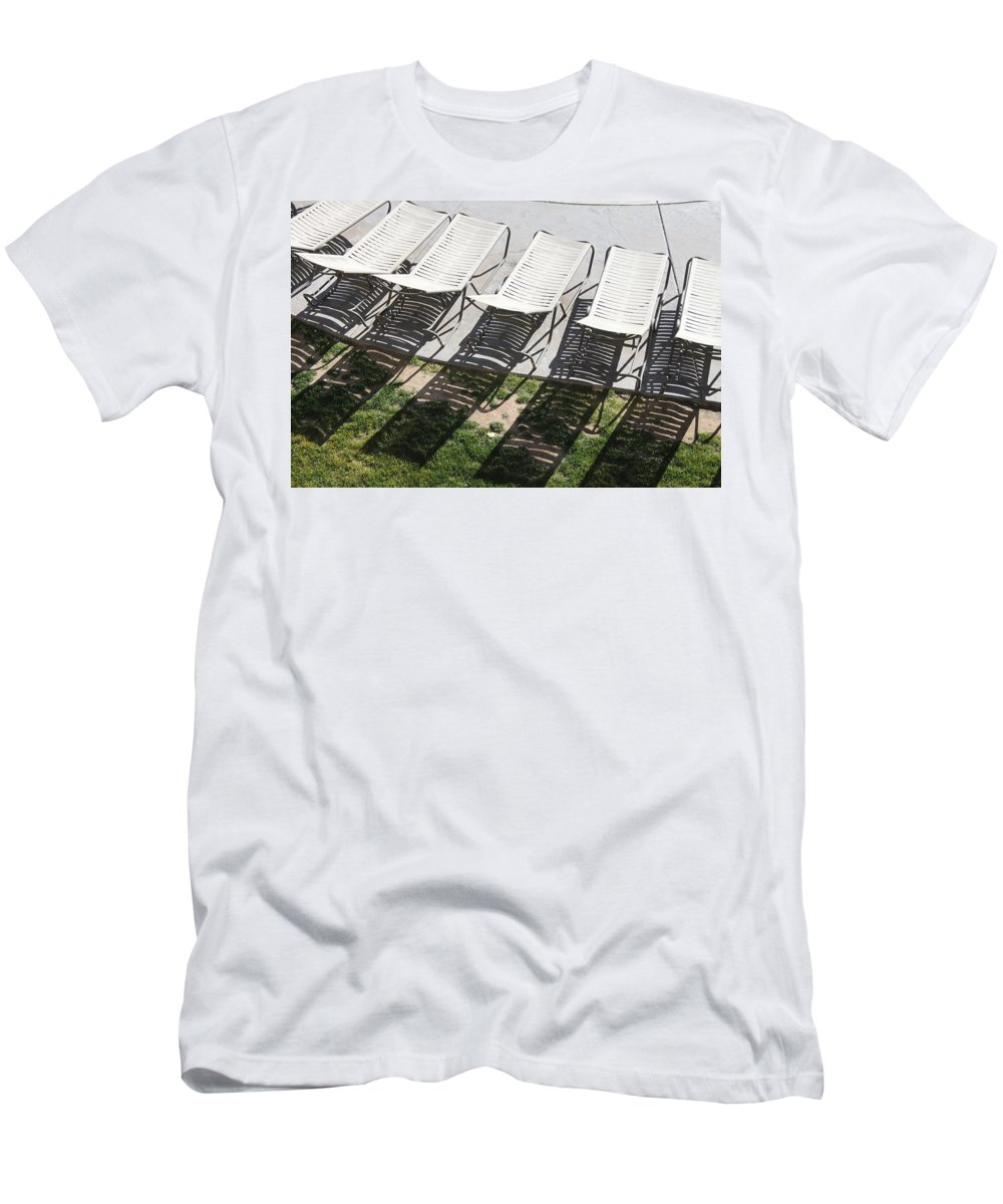 Pool Men's T-Shirt (Athletic Fit) featuring the photograph Poolside by Lauri Novak