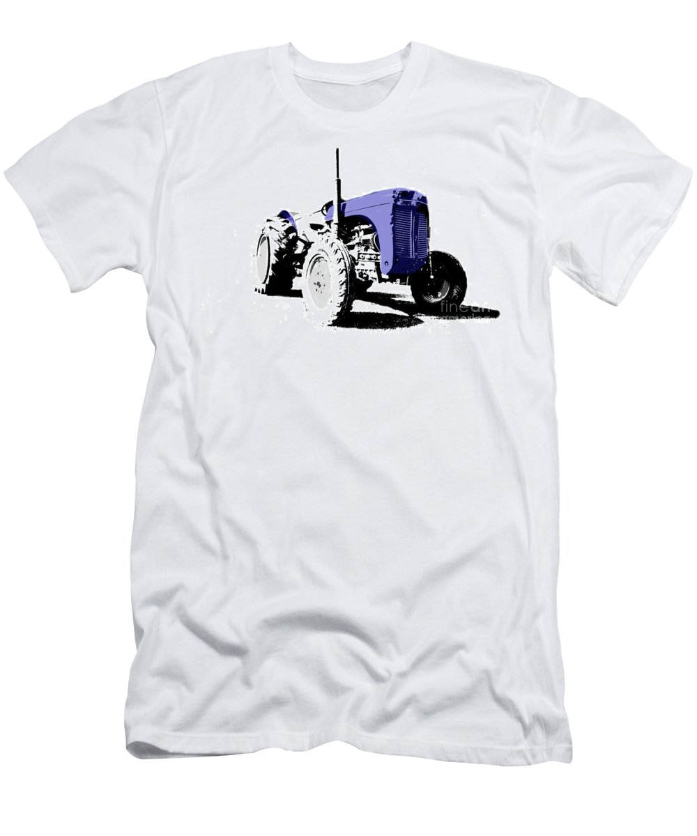 Tractor Men's T-Shirt (Athletic Fit) featuring the photograph Pop Art Fergie by Rob Hawkins
