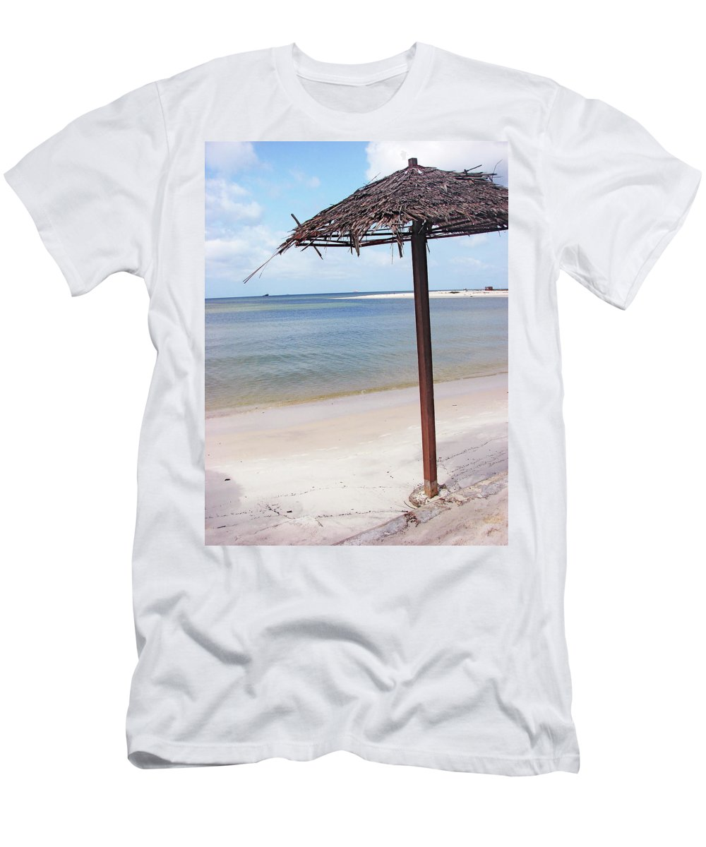 Port Men's T-Shirt (Athletic Fit) featuring the photograph Port Gentil Gabon Africa by Brett Winn