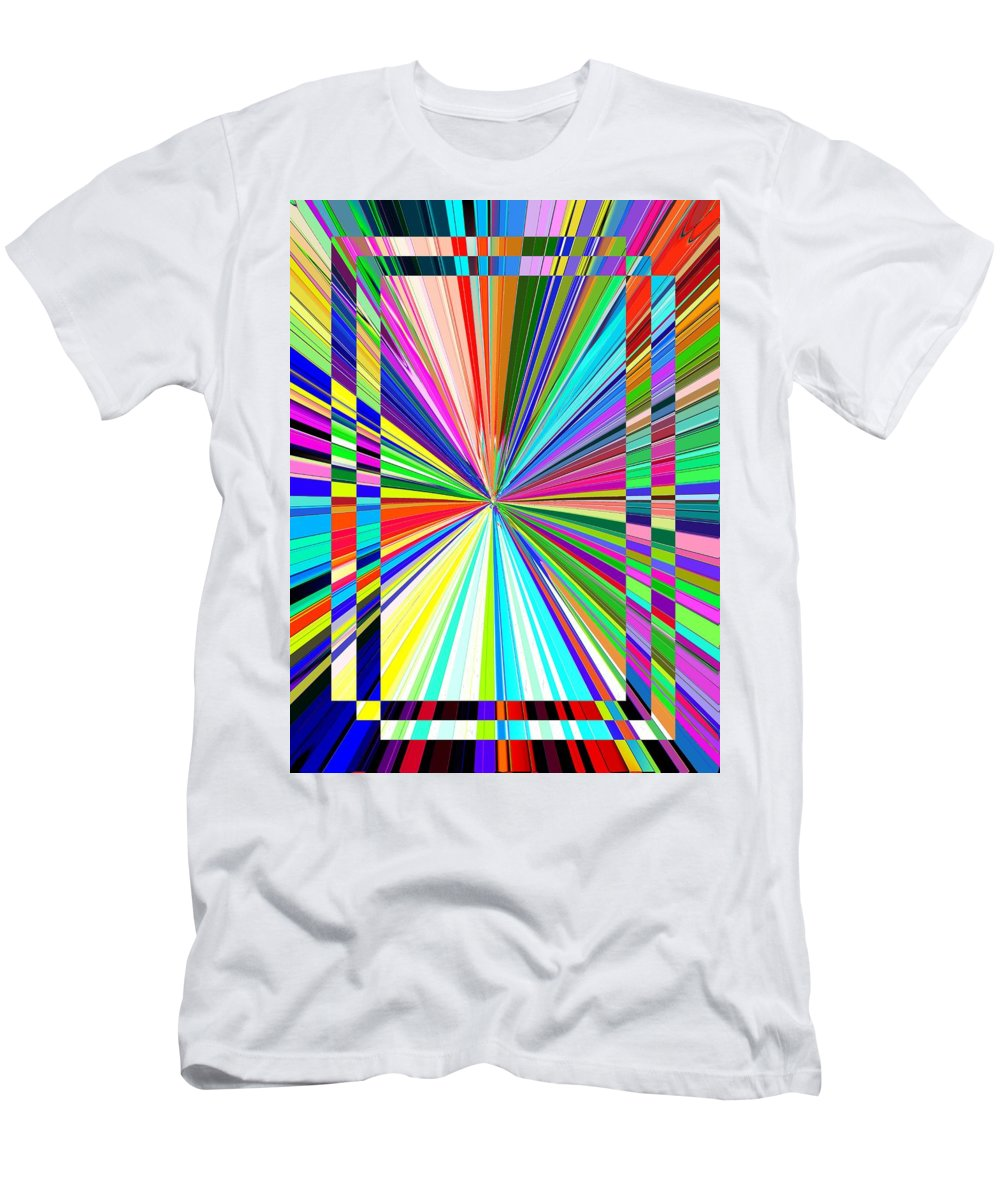 Abstract Men's T-Shirt (Athletic Fit) featuring the digital art Portal 2 by Tim Allen