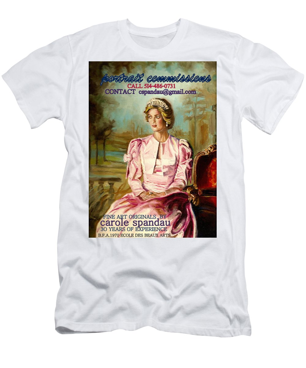 Commissioned Art Men's T-Shirt (Athletic Fit) featuring the painting Portrait Commissions By Portrait Artist Carole Spandau by Carole Spandau