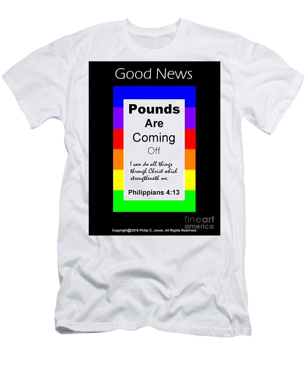 Pounds Are Coming Off Men's T-Shirt (Athletic Fit) featuring the digital art Pounds Are Coming Off by Philip Jones
