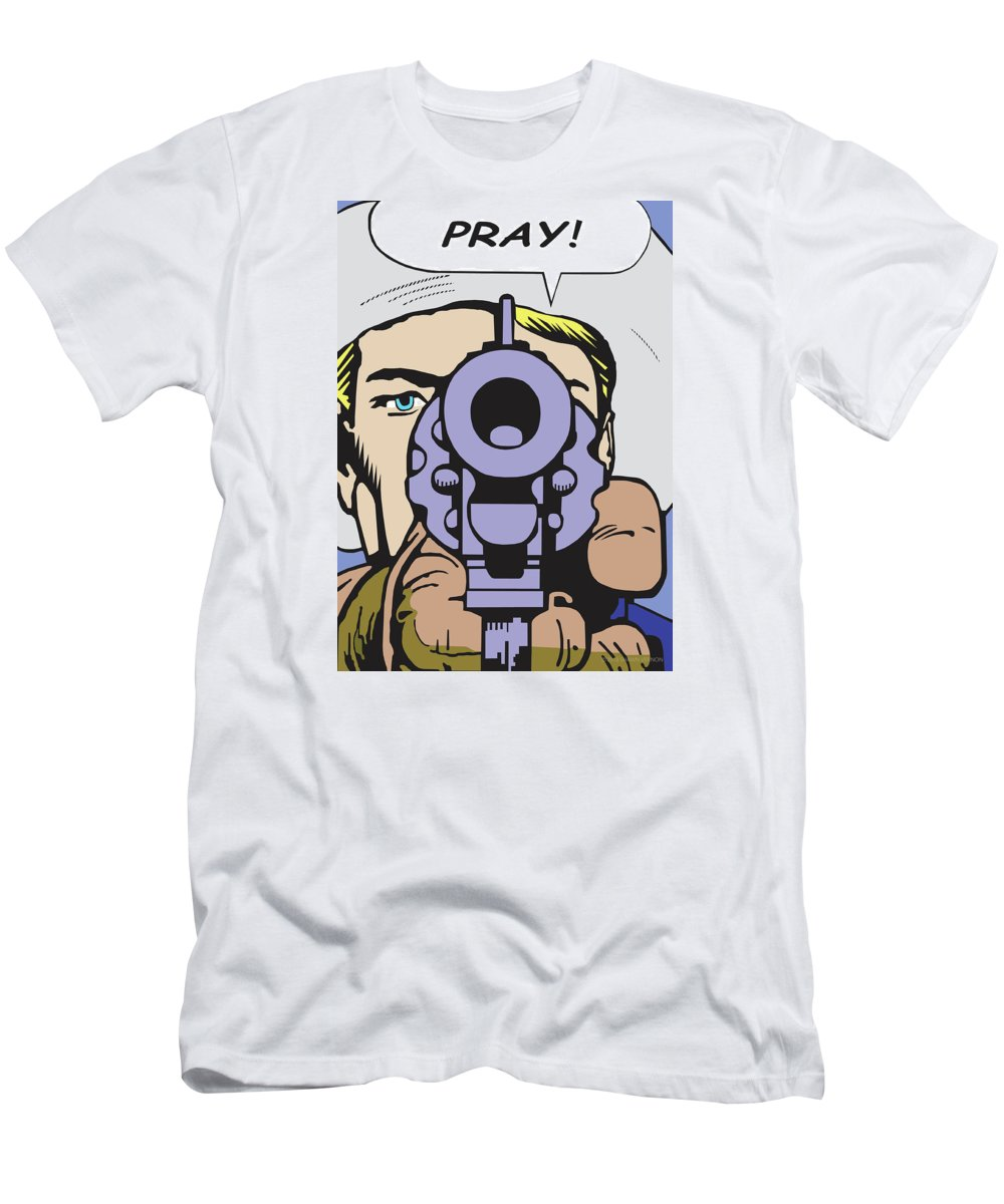 Western Art Men's T-Shirt (Athletic Fit) featuring the digital art Pray by Shawn Vernon