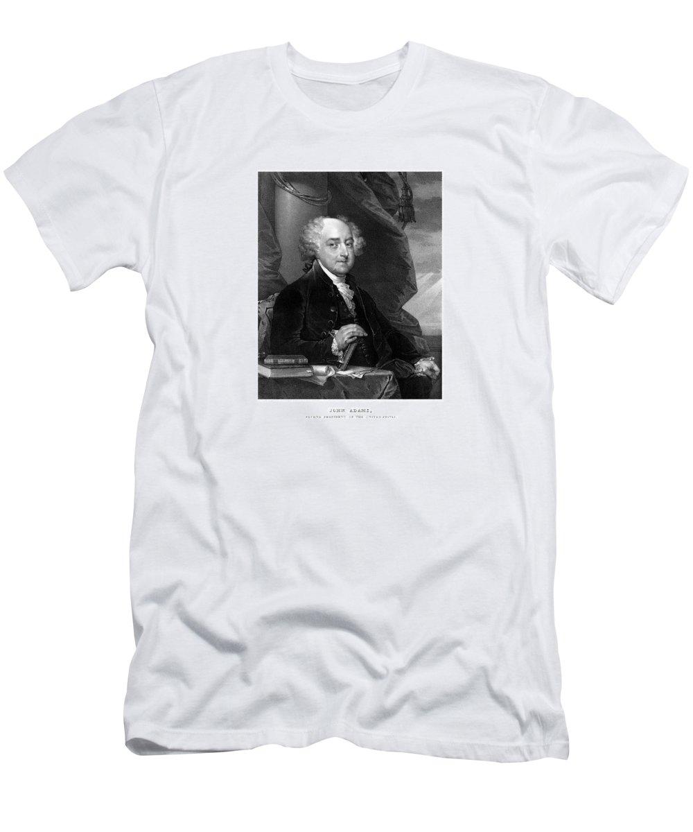 John Adams Men's T-Shirt (Athletic Fit) featuring the mixed media President John Adams - Three by War Is Hell Store