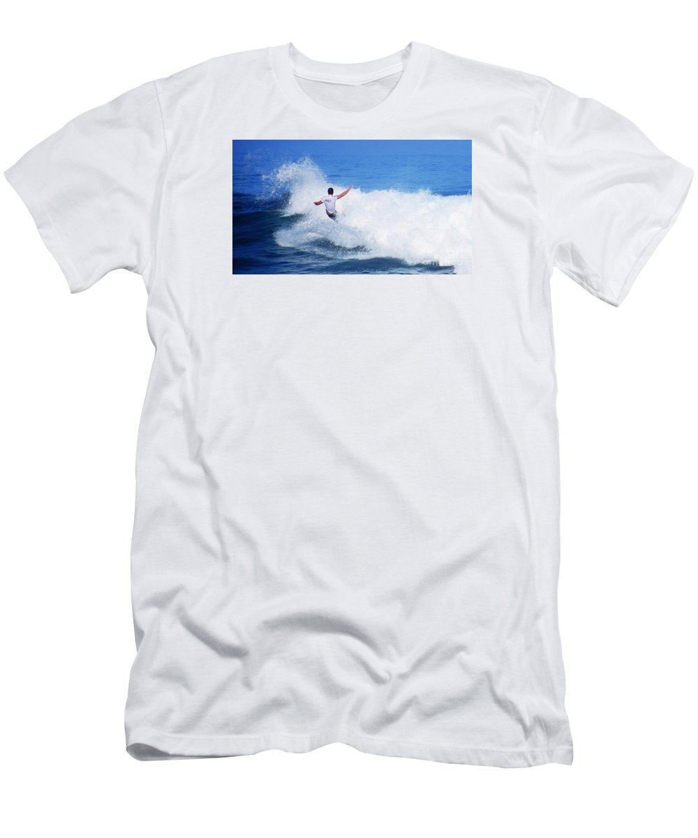 Professional-surfer-surfers Men's T-Shirt (Athletic Fit) featuring the photograph Pro Surfer Gabe King - 4 by Scott Cameron