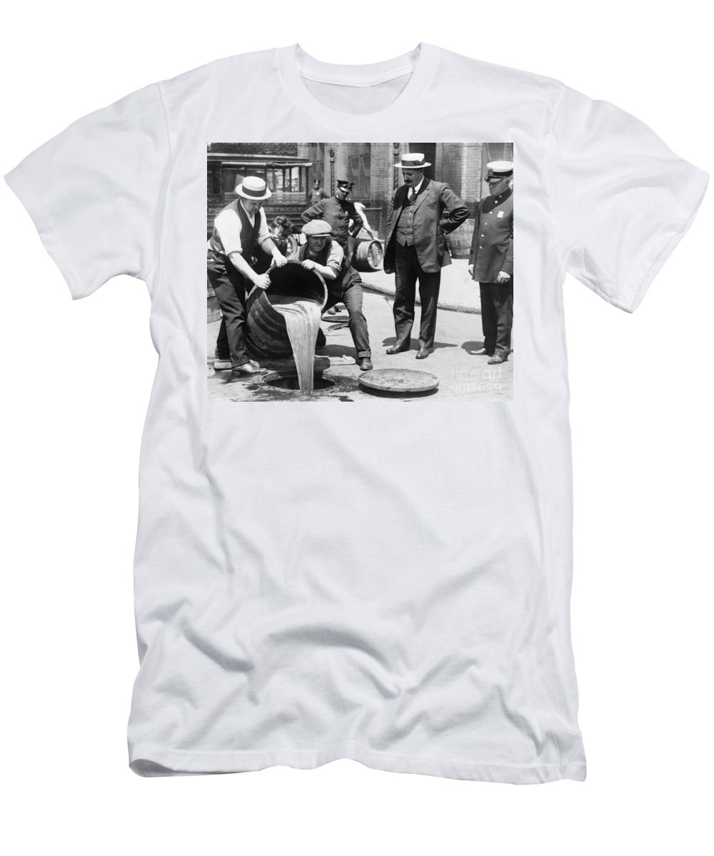 1921 Men's T-Shirt (Athletic Fit) featuring the photograph Prohibition, C1921 by Granger