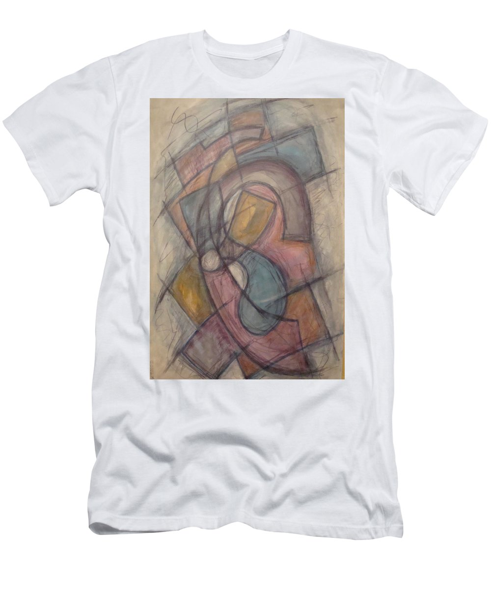 Pure Abstract Men's T-Shirt (Athletic Fit) featuring the painting Propeller by W Todd Durrance