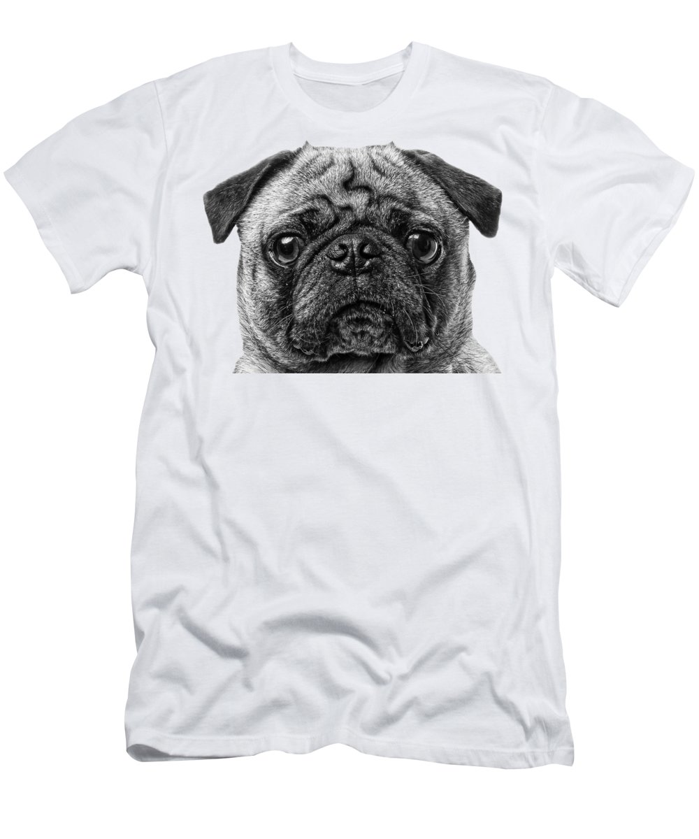 Pug Men's T-Shirt (Athletic Fit) featuring the photograph Pug T-shirt by Edward Fielding