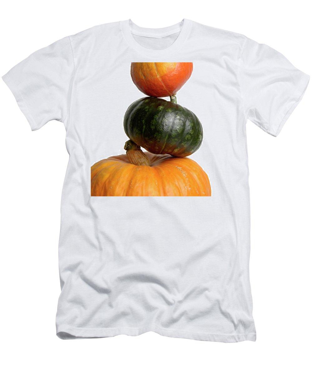 Pumpkins Men's T-Shirt (Athletic Fit) featuring the photograph Pumpkins by Bernard Jaubert
