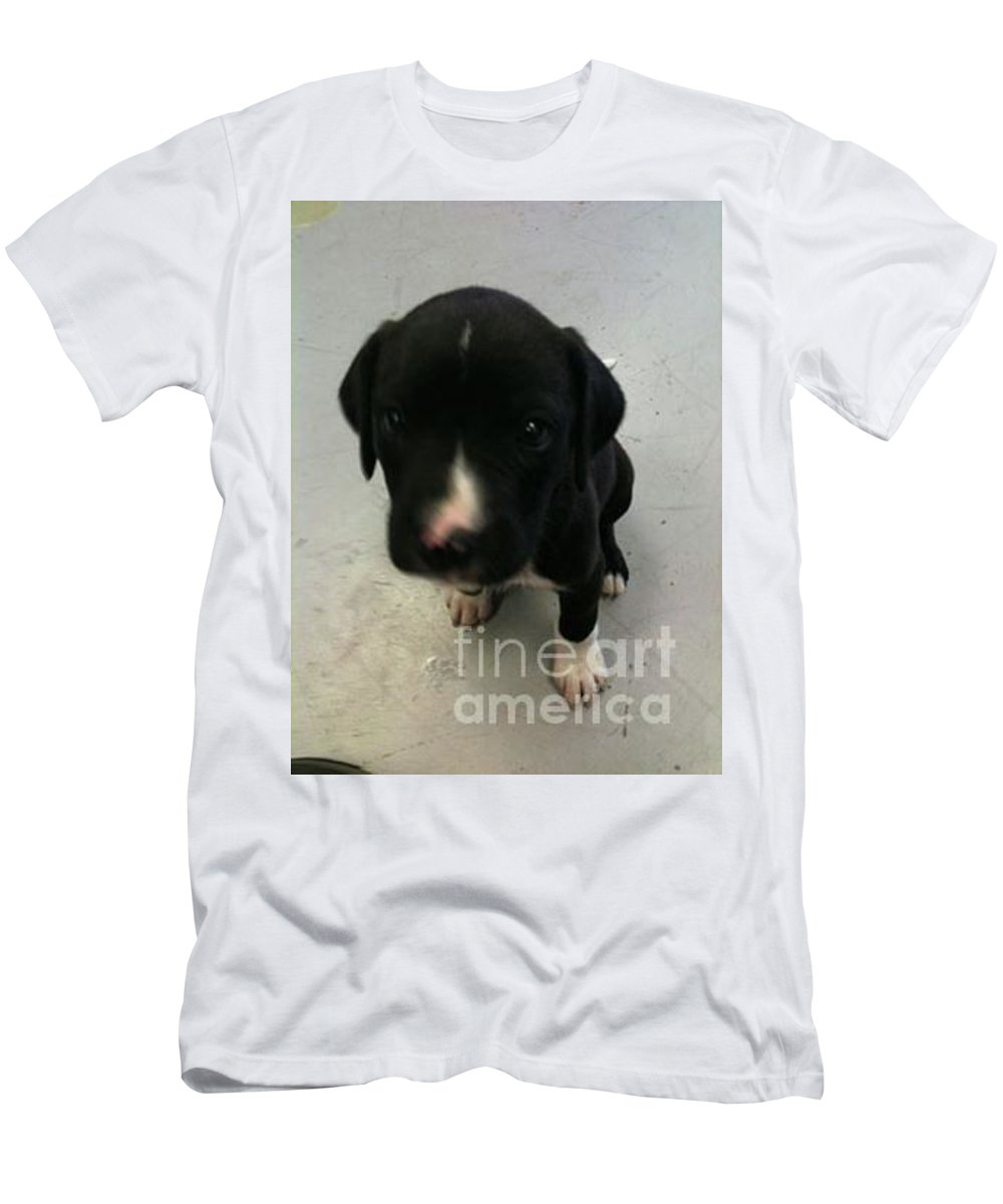Puppy Men's T-Shirt (Athletic Fit) featuring the photograph Puppy Love by Joseph Kelly