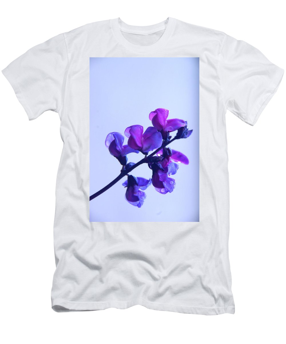 Floral Men's T-Shirt (Athletic Fit) featuring the photograph Purple by Byron Varvarigos