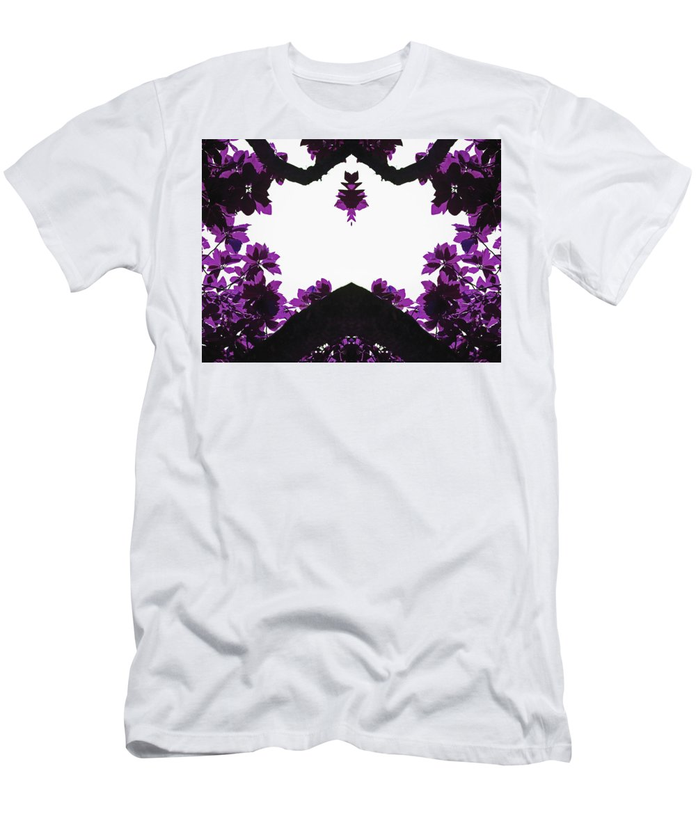 Purple Men's T-Shirt (Athletic Fit) featuring the photograph Purple Leaves by Gabrielle Yap
