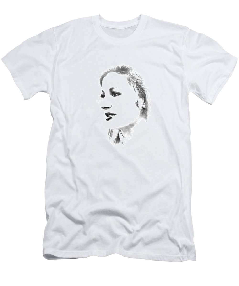 Black And White Men's T-Shirt (Athletic Fit) featuring the photograph Rachell by Kristie Bonnewell