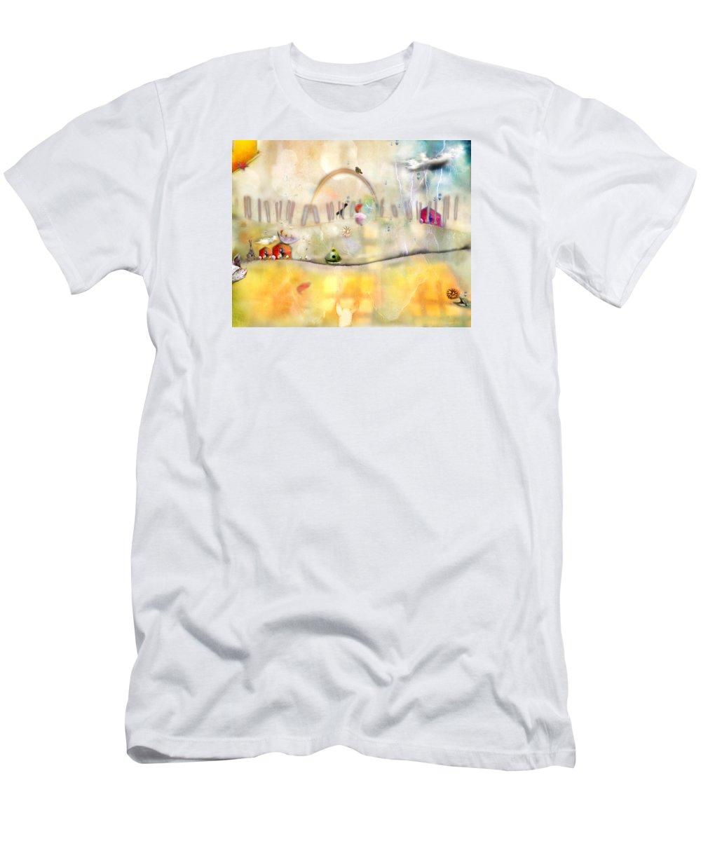 Rainbows Men's T-Shirt (Athletic Fit) featuring the photograph Rainbows by Karen Divine