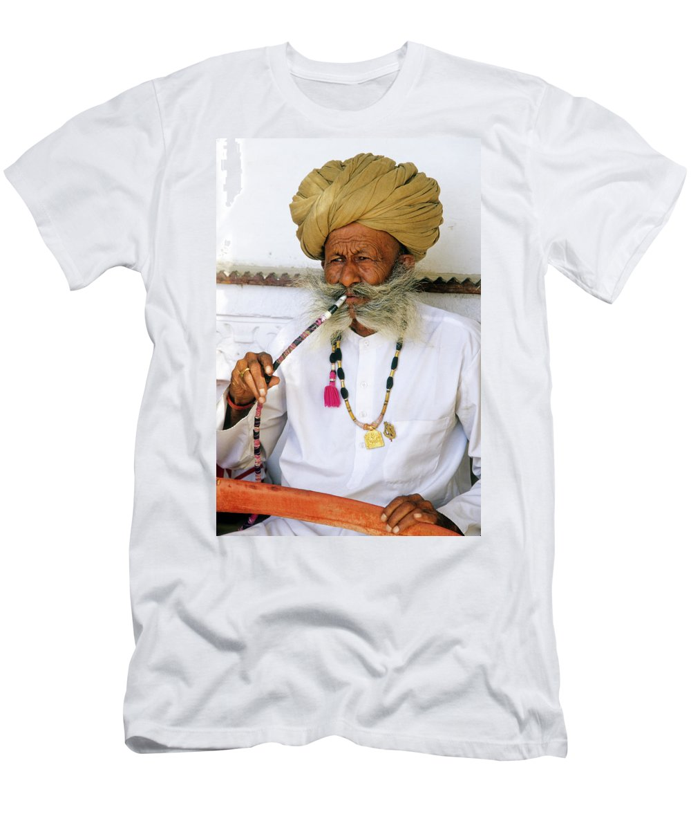 India Men's T-Shirt (Athletic Fit) featuring the photograph Rajasthani Elder by Michele Burgess