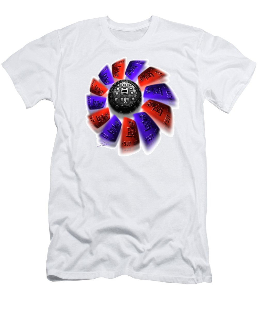 Red White And Blue Men's T-Shirt (Athletic Fit) featuring the photograph Rally Round The Flag by Charles Stuart