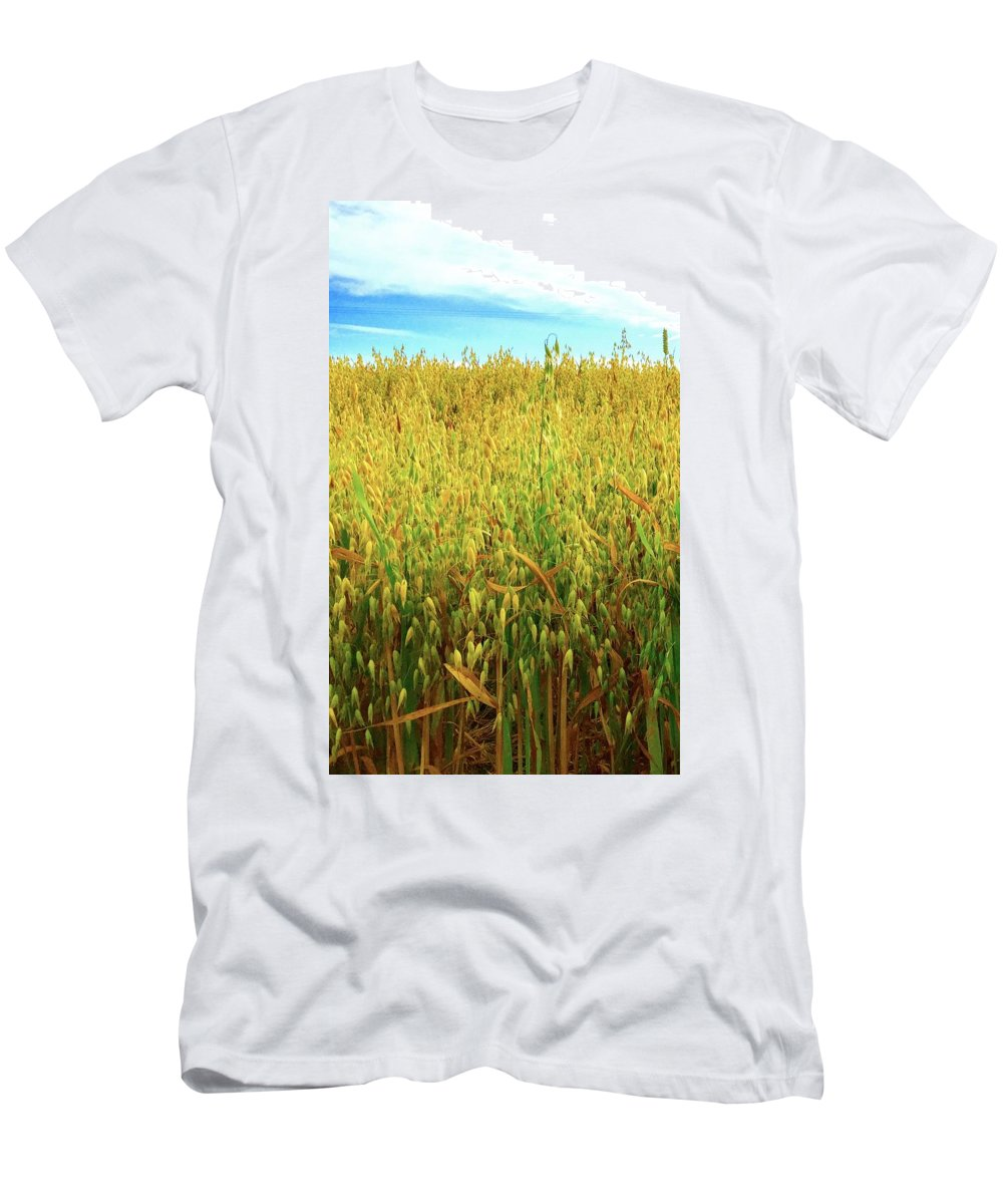 Rapeseed Men's T-Shirt (Athletic Fit) featuring the photograph Rapeseed by Caroline Reyes-Loughrey