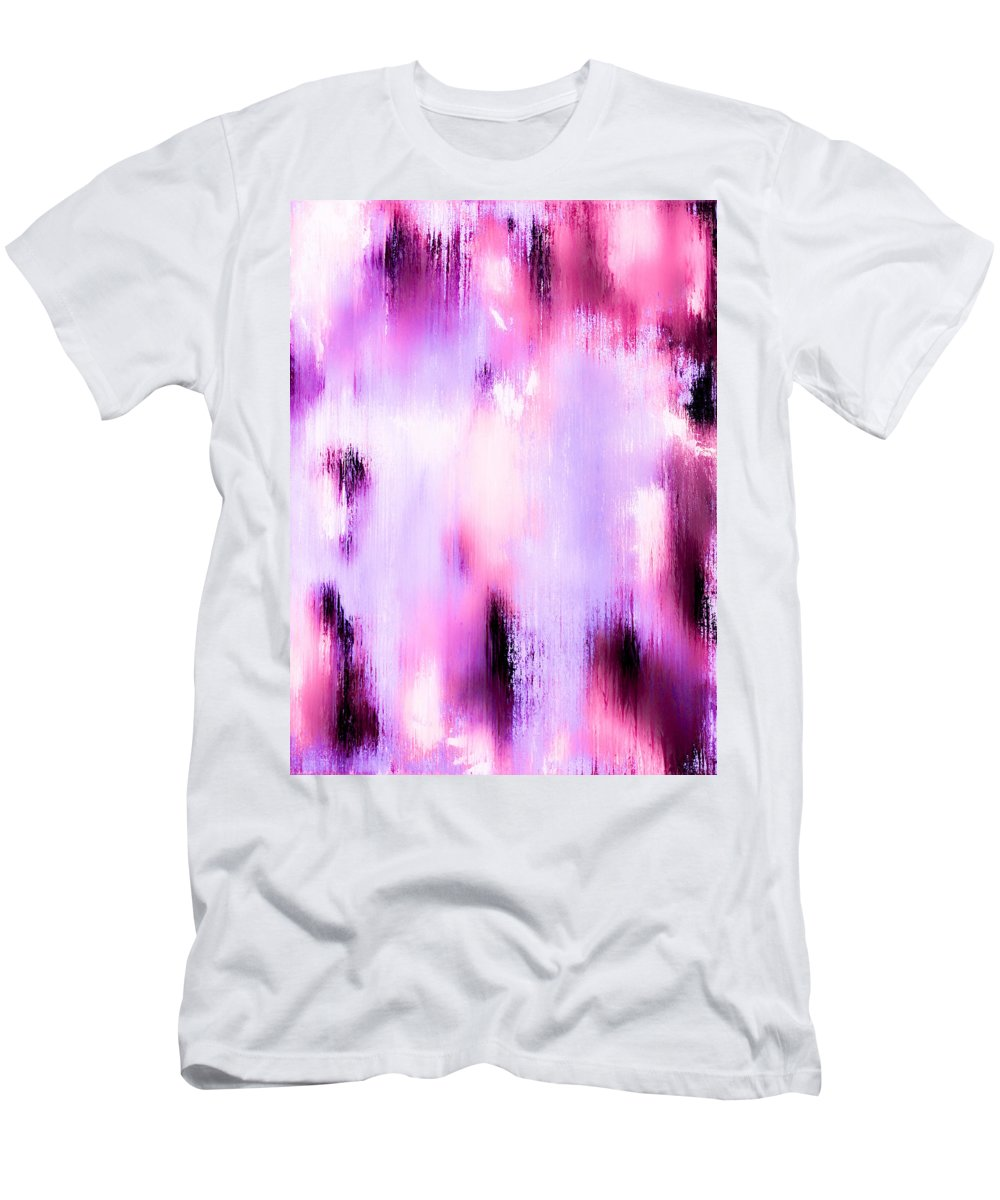 Abstract Men's T-Shirt (Athletic Fit) featuring the painting Raspberry Baret by Wayne Cantrell