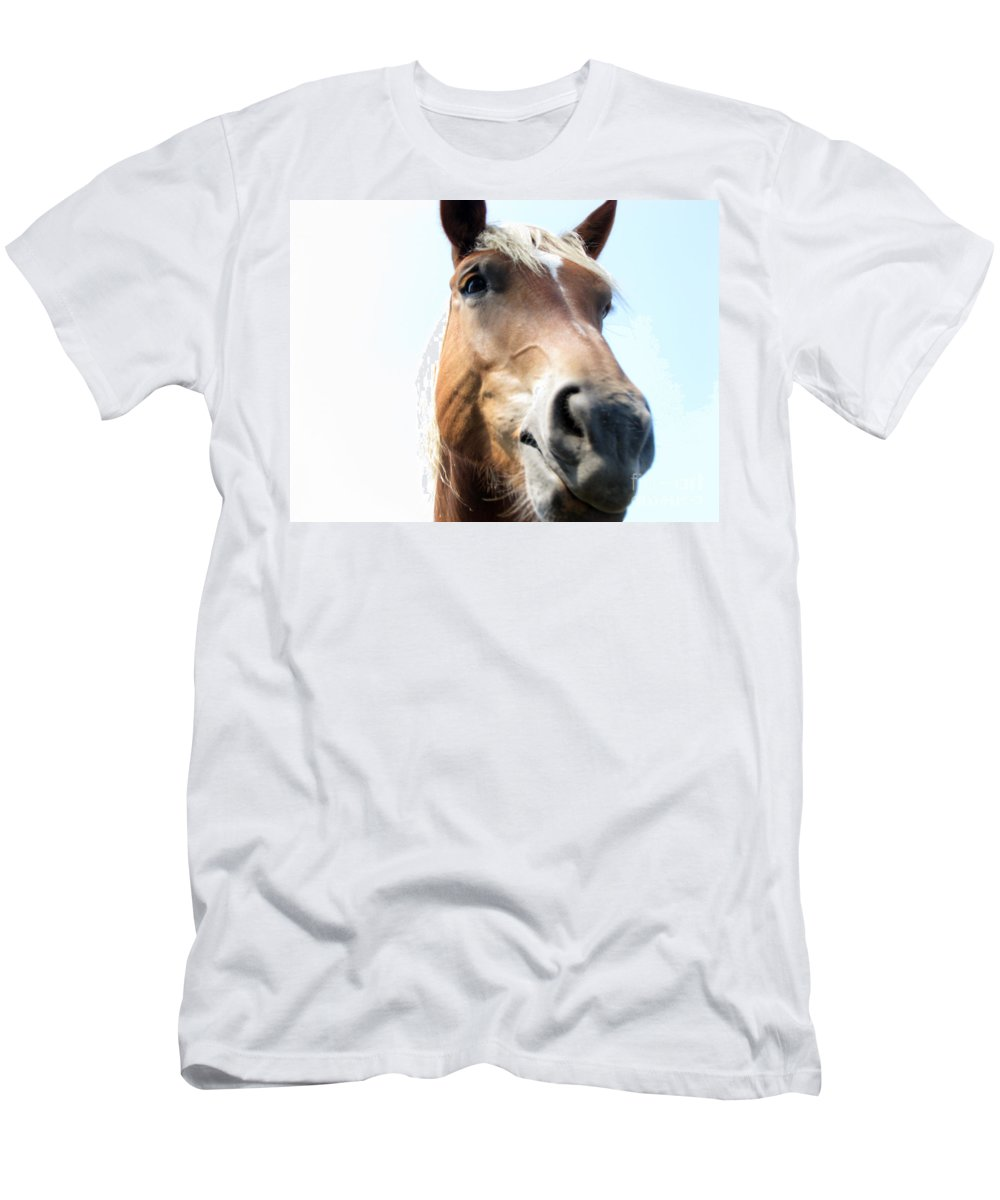 Horse Men's T-Shirt (Athletic Fit) featuring the photograph Really by Amanda Barcon