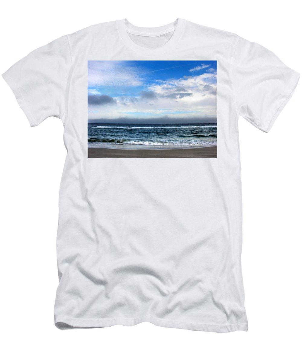 Seascape T-Shirt featuring the photograph Receding Fog Seascape by Steve Karol