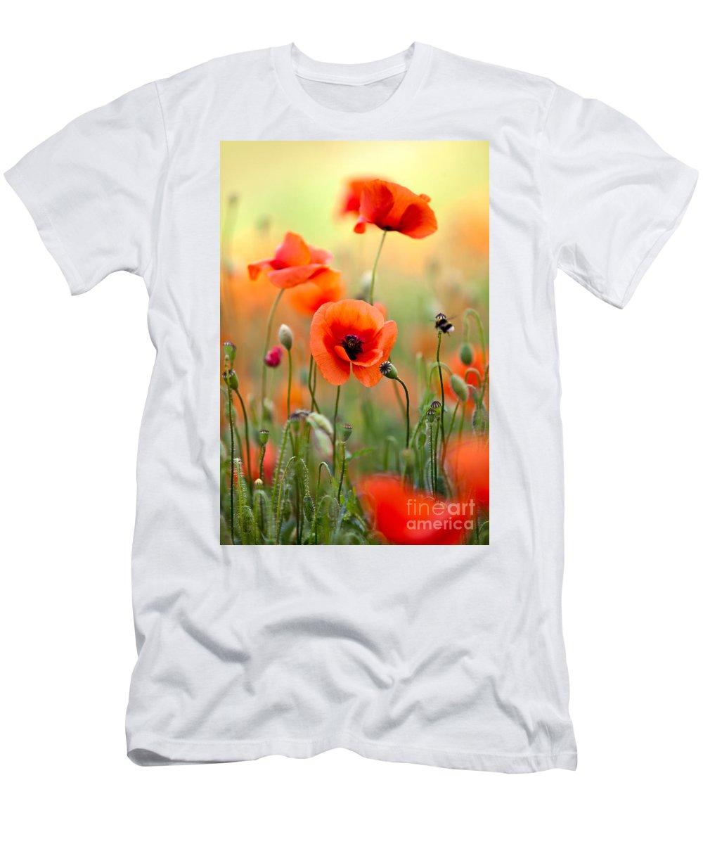 Red Corn Poppy Flowers 06 T Shirt For Sale By Nailia Schwarz