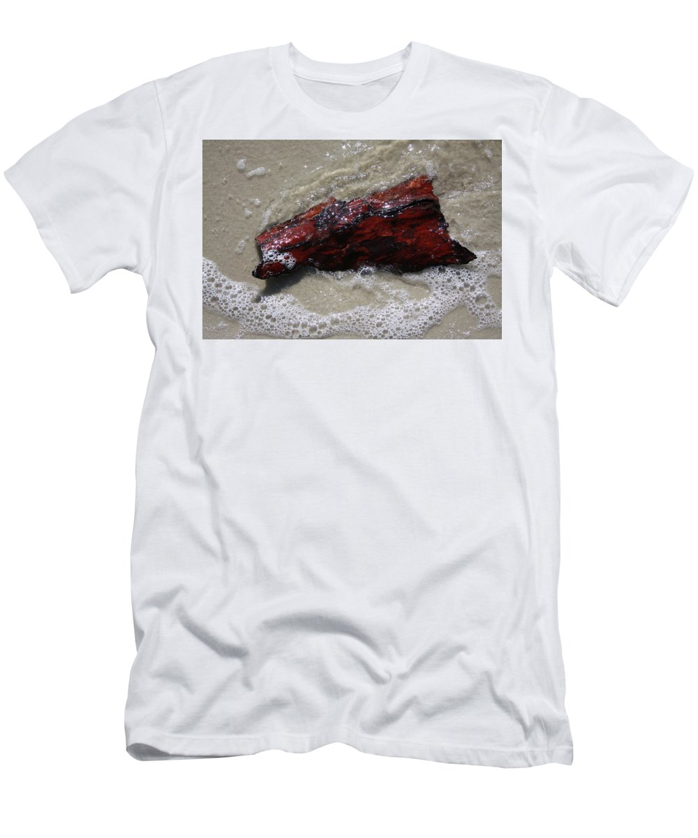 Red Men's T-Shirt (Athletic Fit) featuring the photograph Red Drifter by Remmy Ar'emen