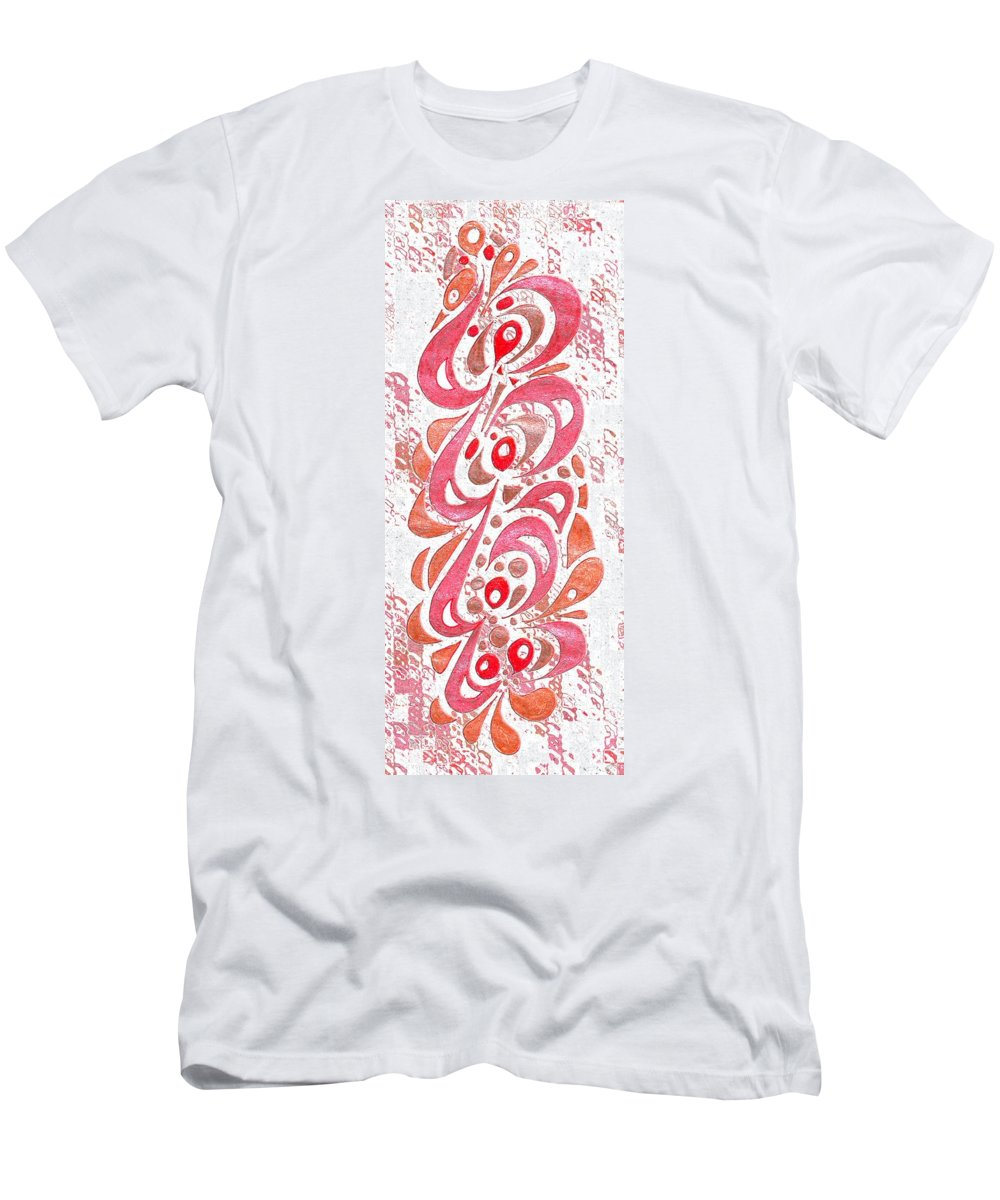 Abstract Men's T-Shirt (Athletic Fit) featuring the digital art Red Orchid Cluster by Mark Sellers