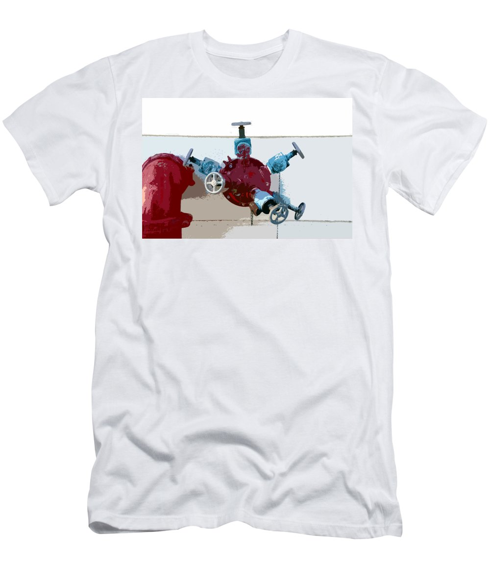 Art Men's T-Shirt (Athletic Fit) featuring the photograph Red Pump by David Lee Thompson