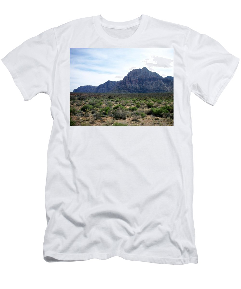 Red Rock Canyon Men's T-Shirt (Athletic Fit) featuring the photograph Red Rock Canyon 3 by Anita Burgermeister