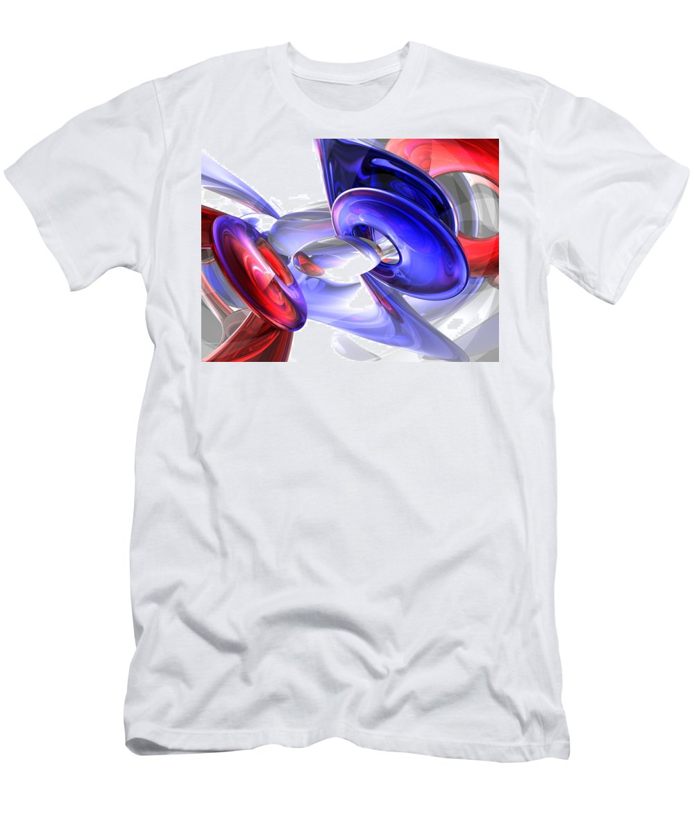 3d Men's T-Shirt (Athletic Fit) featuring the digital art Red White And Blue Abstract by Alexander Butler