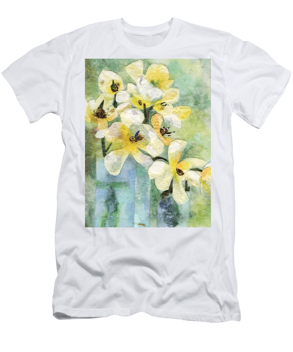 Limited Edition Prints T-Shirt featuring the painting Reflection by Nira Schwartz
