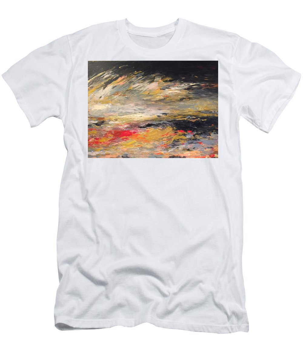 Men's T-Shirt (Athletic Fit) featuring the painting Reflection by Parinrat Puntasen