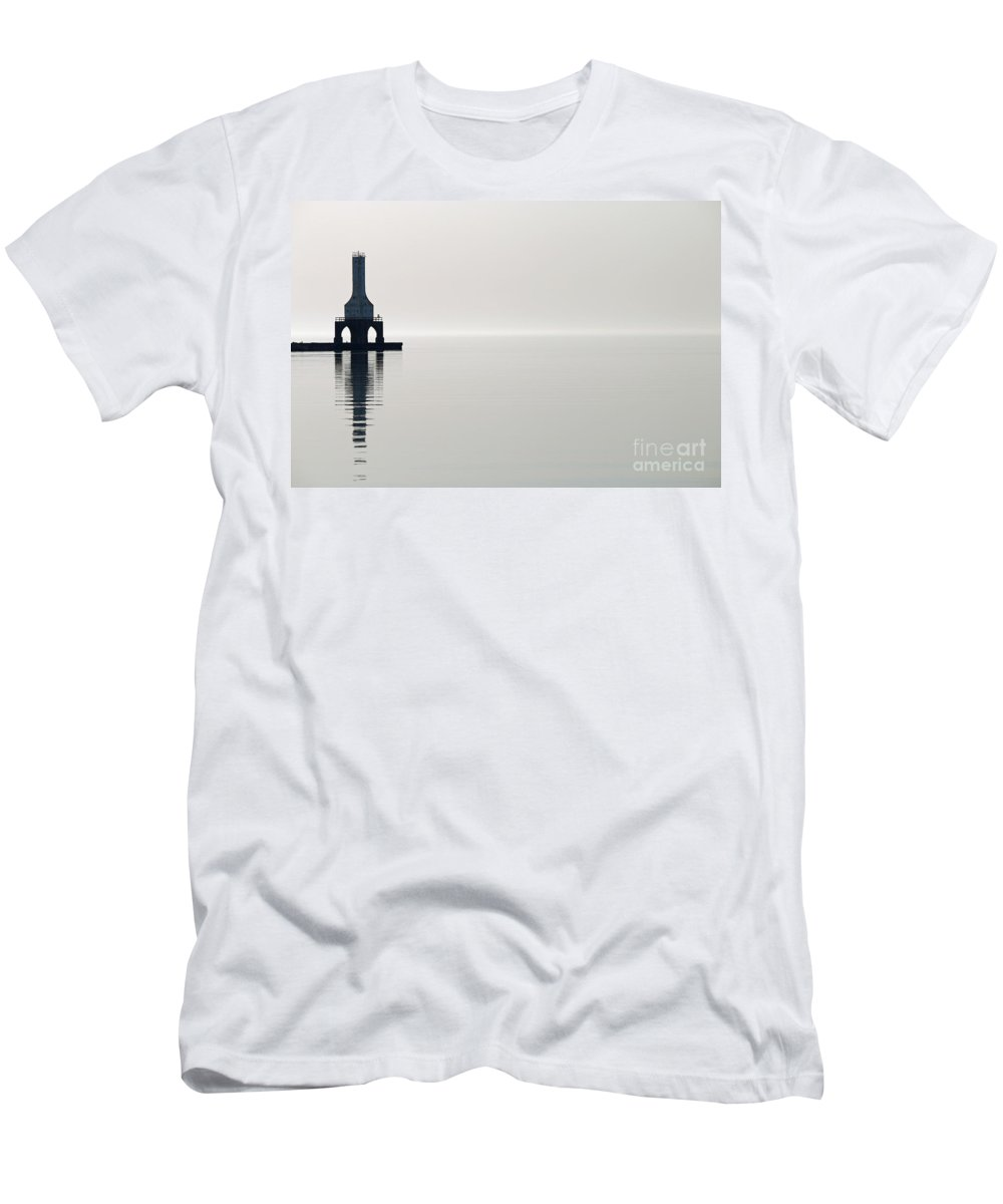 Port Men's T-Shirt (Athletic Fit) featuring the photograph Reflections In Port 1 by Eric Curtin